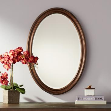 "Flanders Bronze 23 1/2"" x 34"" Oval Wall Mirror"