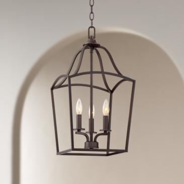 "Caldwell 11 3/4"" Wide Steel 3-Light Entry Pendant"