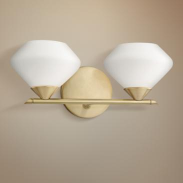 "Mitzi Valerie 6"" High Aged Brass 2-Light Wall Sconce"