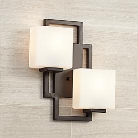"Lighting on the Square 15 1/2"" High Bronze Wall Sconce"