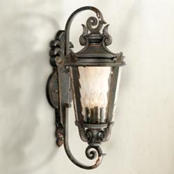 "Casa Marseille 31"" High Large Bronze Outdoor Wall Light"
