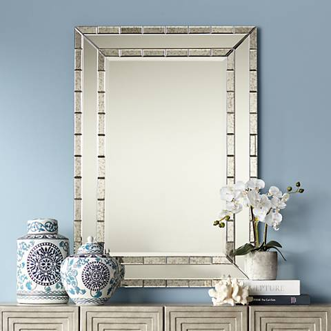 "Caldwell Antique Frame 28"" x 40"" Wall Mirror"