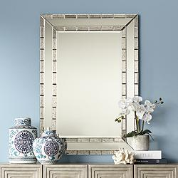 "Caldwell Antique Frame 28"" x 40"" Rectangular Wall Mirror"