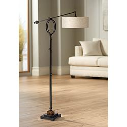 Henley Adjustable Boom Arm Floor Lamp by Uttermost