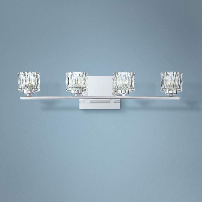 "Eurofase Guelph 24 1/2"" Wide Chrome 4-Light LED"
