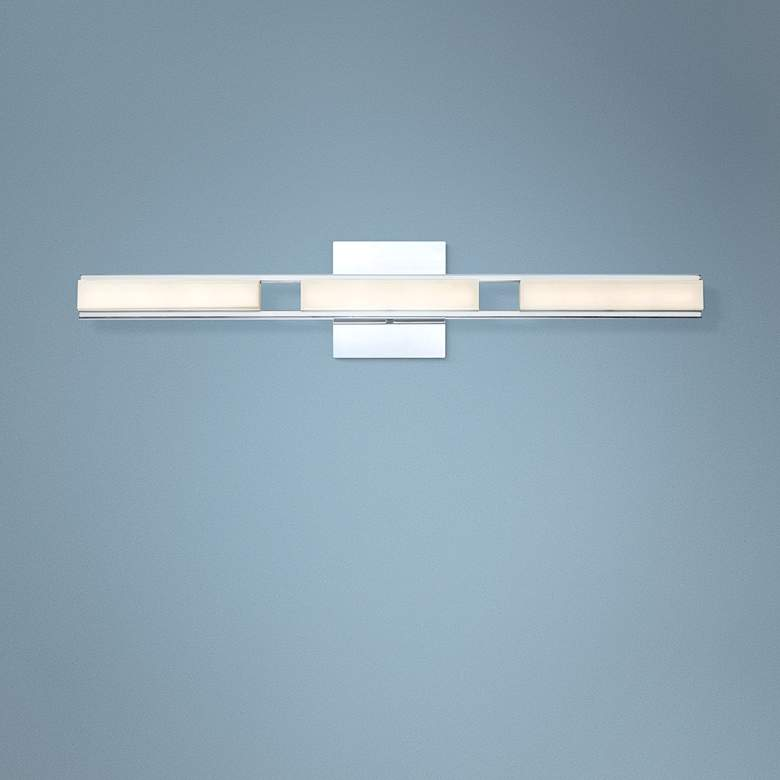 "Eurofase Fanton 30"" Wide Chrome 3-Light LED Bath"