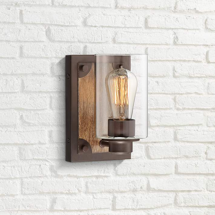 Buford 8 High Wood Accented Bronze