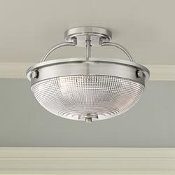 "Drixley 13"" Wide Brushed Nickel 3-Light Ceiling Light"