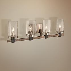"Bridlewood 31"" Wide Brushed Nickel 4-Light Bath Light"