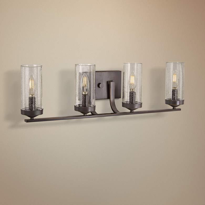 "Elyton 28 3/4"" Wide Downtown Bronze 4-Light Bath Light"