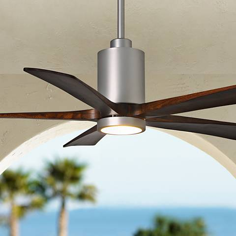 "52"" Matthews Patricia-5 Brushed Nickel LED Ceiling Fan"