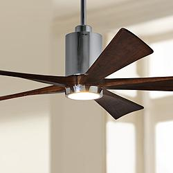 "60"" Matthews Patricia-5 Polished Chrome LED Ceiling Fan"
