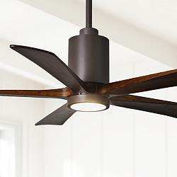"60"" Matthews Patricia-5 Textured Bronze LED Ceiling Fan"