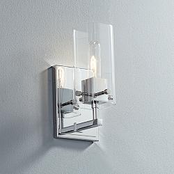 "Possini Euro Metis 11"" High Chrome Wall Sconce"