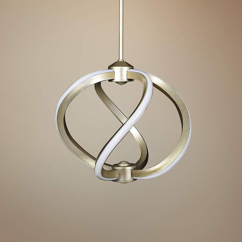 "Vortex 14"" Wide Inspired Gold LED Pendant Light"