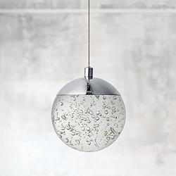 "ET2 Orb II 5 1/2"" Wide Polished Chrome LED Mini Pendant"