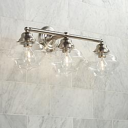 "Possini Euro Astrid 27 1/4"" Wide Nickel 3-Light Bath Light"