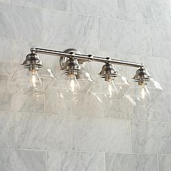 "Possini Euro Astrid 30 3/4"" Wide Nickel 4-Light Bath Light"