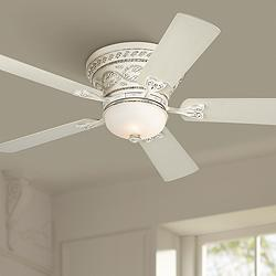 "52"" Casa Vieja Ancestry™ LED White Hugger Ceiling Fan"