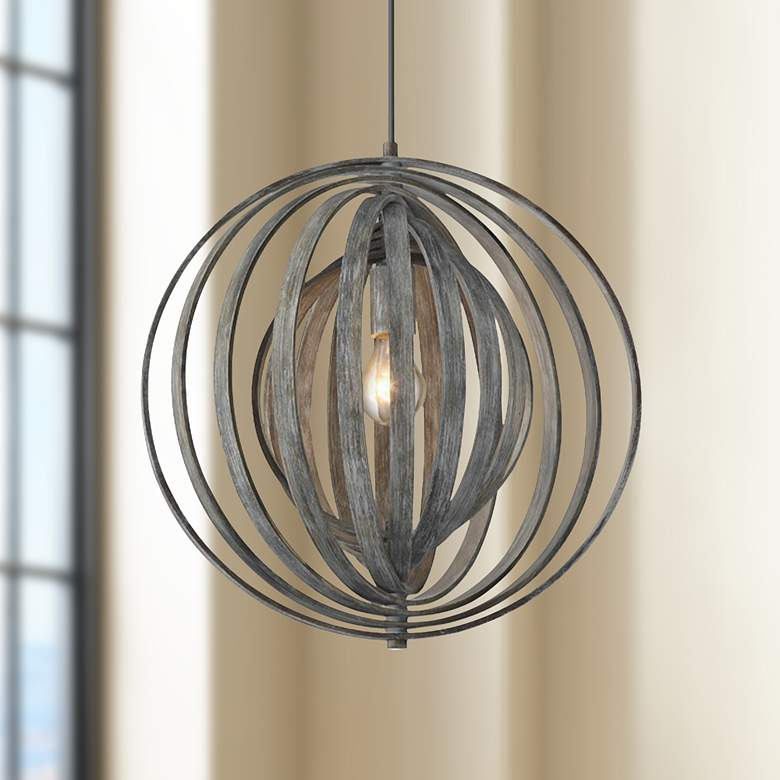 "Eurofase Abruzzo 17"" Wide Weather Gray Pendant Light"