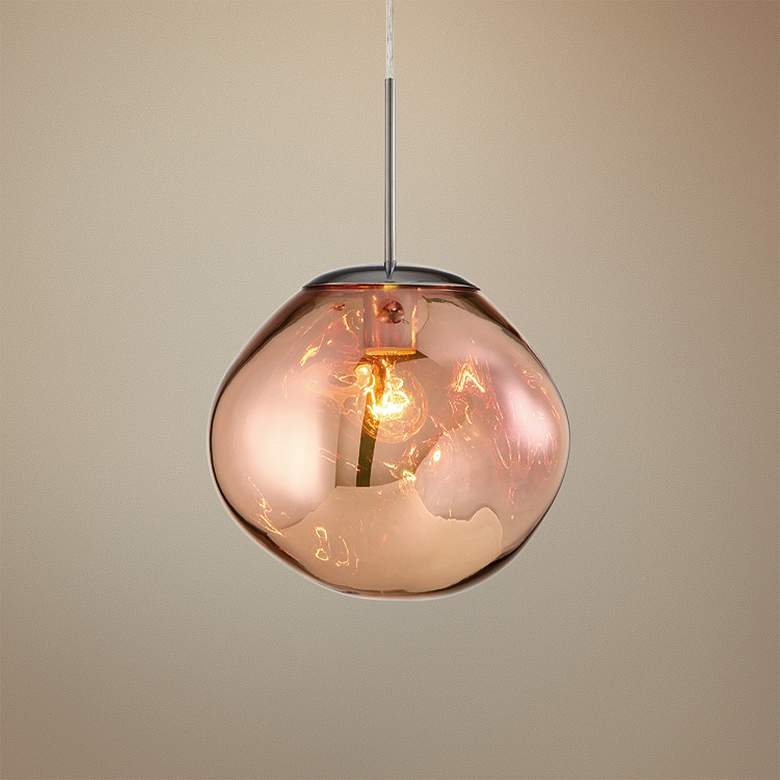 "Bankwell 10 1/2"" Wide Pearlized Copper Orb Mini"