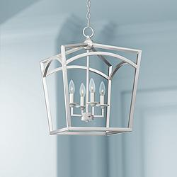 "Wilmington 16"" Wide Brushed Nickel 4-Light Foyer Pendant"