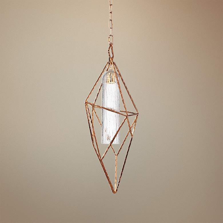 "Verdino Asymmetric 10 1/4"" Wide Gold LED Mini Pendant"