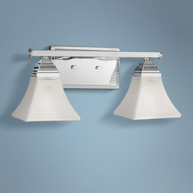 "Conspire 7 1/4"" High Chrome 2-Light Wall Sconce"