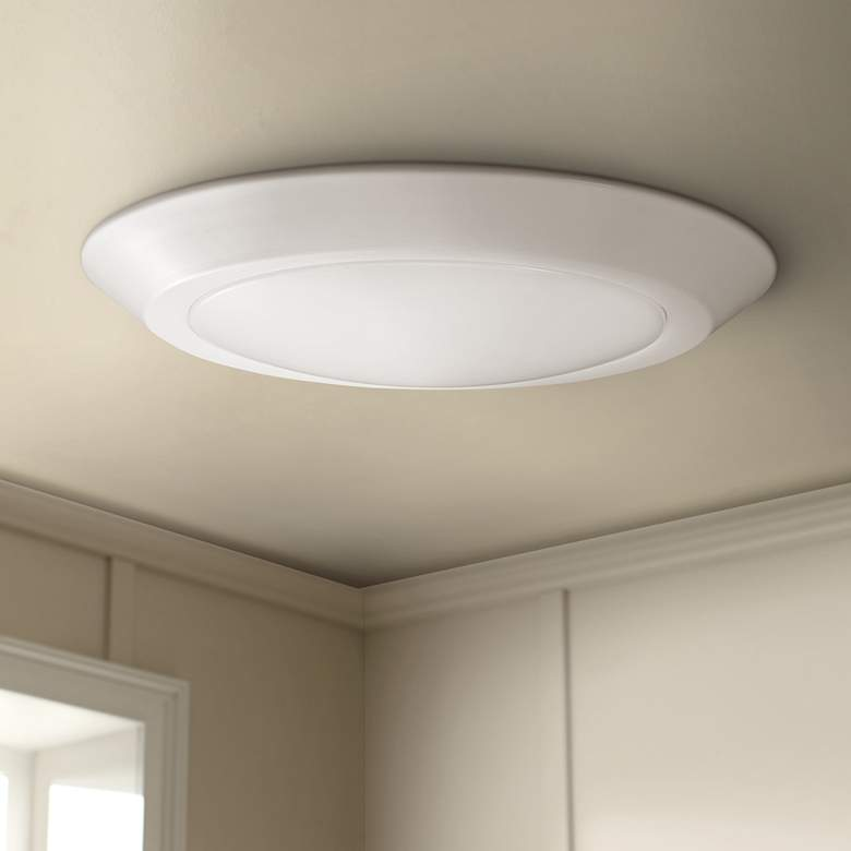 "Satco Nuvo Lighting 10"" Wide White 4000K LED Ceiling Light"