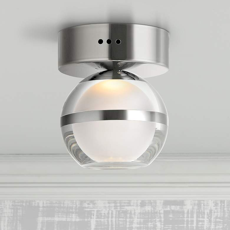 "ET2 Swank 4 3/4"" Wide Polished Chrome LED Ceiling Light"