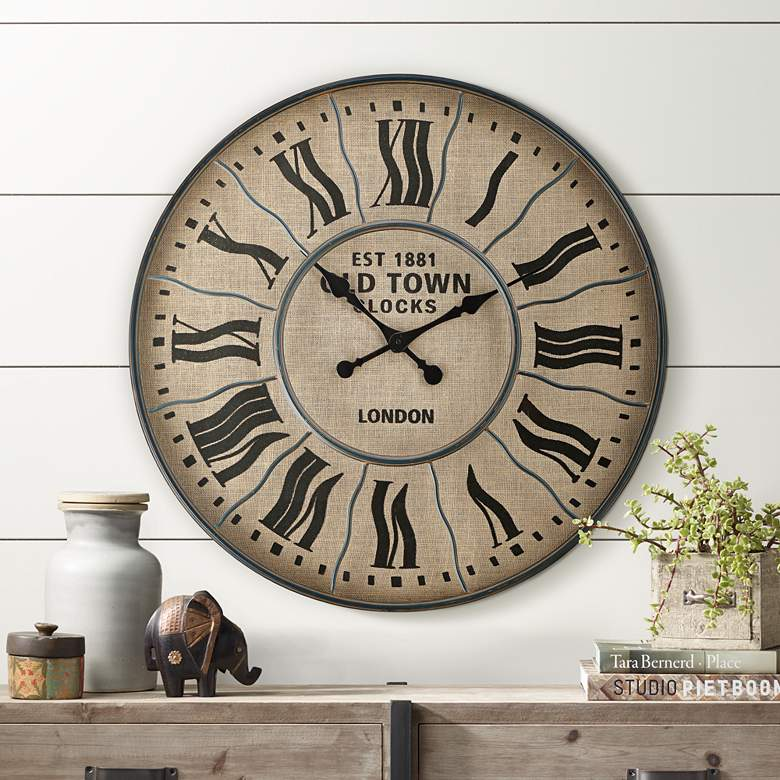 "EST 1881 Old Town London 31 1/2"" Round Wall Clock"