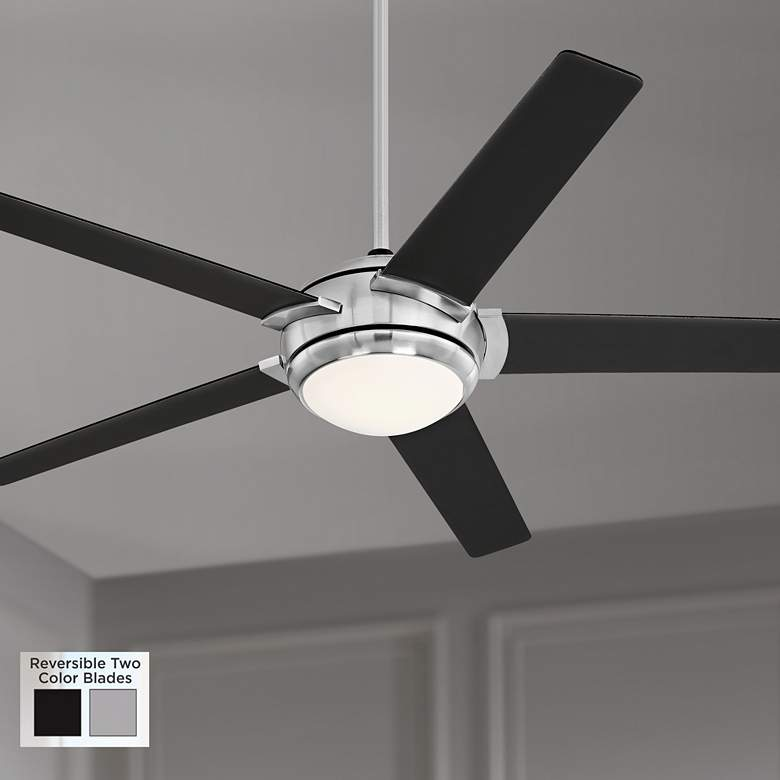 "52"" Casa Probe III Brushed Nickel LED Ceiling Fan"