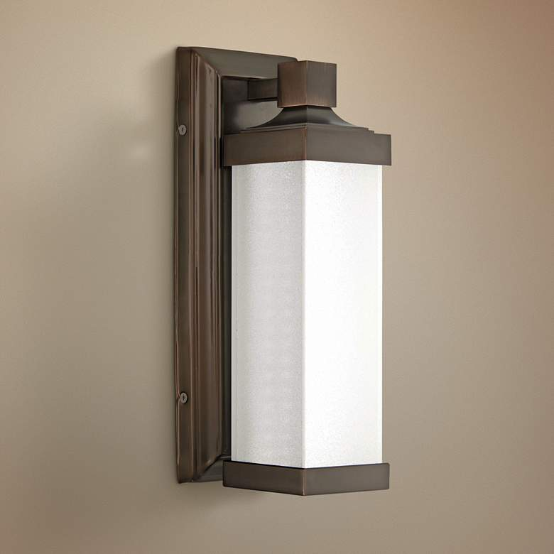 "Kella 13"" High Harvard Court Bronze LED Wall"