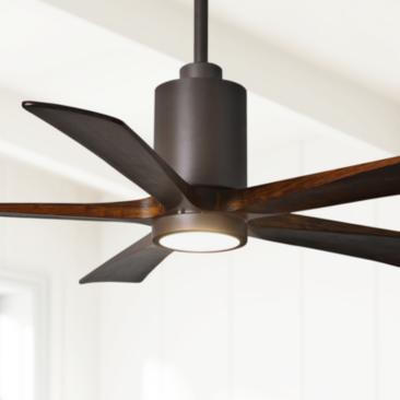 "52"" Matthews Patricia-5 Textured Bronze LED Ceiling Fan"