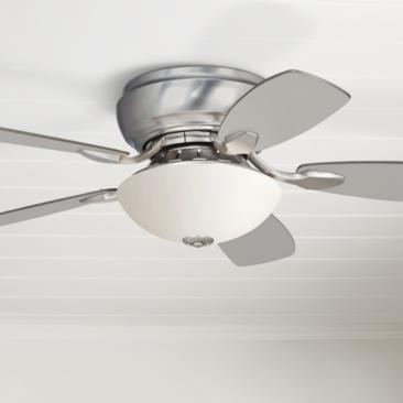 "44"" Casa Habitat™ Brush Nickel Hugger LED Ceiling Fan"