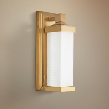 "Kella 13"" High Liberty Gold LED Wall Sconce"