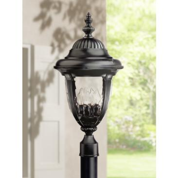 "Bellagio Collection 24 1/2"" High Black Outdoor Post Light"