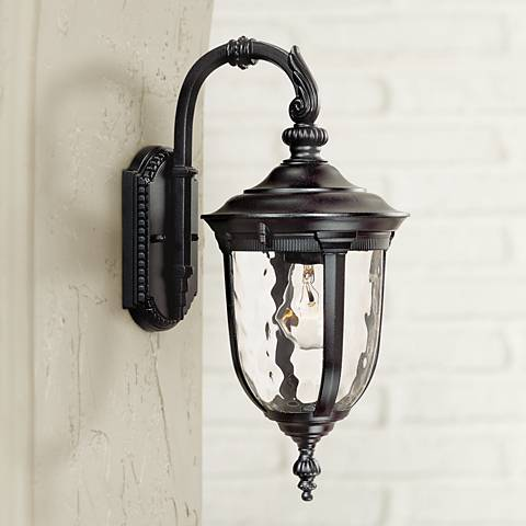 "Bellagio™ 16 1/2"" High Downbridge Black Outdoor Light"