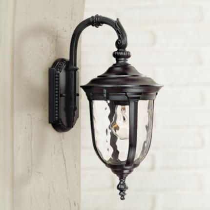 Bellagio Black Finish Outdoor Light Collection