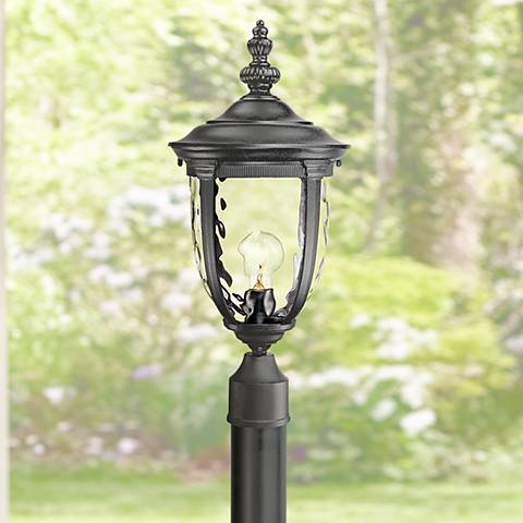 "Bellagio Black 103"" High Direct Burial Post Light"