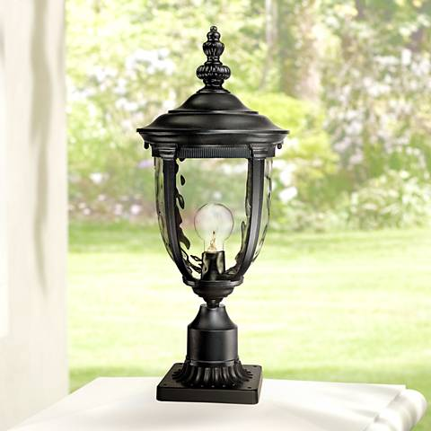 "Bellagio™ Collection 21"" High Black Outdoor Post Light"