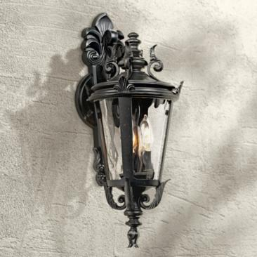 "Casa Marseille™ 21 3/4"" High Black Outdoor Wall Light"