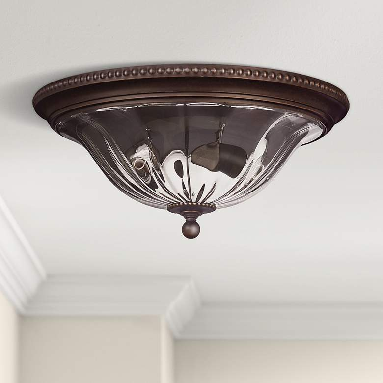 Cambridge Collection Bronze 16 1 4 Wide Ceiling Light