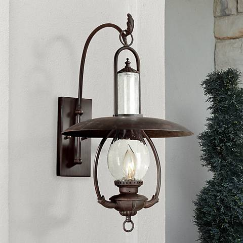 "La Grange Collection 26 1/2"" High Outdoor Wall Lantern"