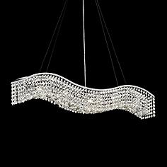 Silver linear chandeliers lamps plus james r moder crystal wave 36 mozeypictures