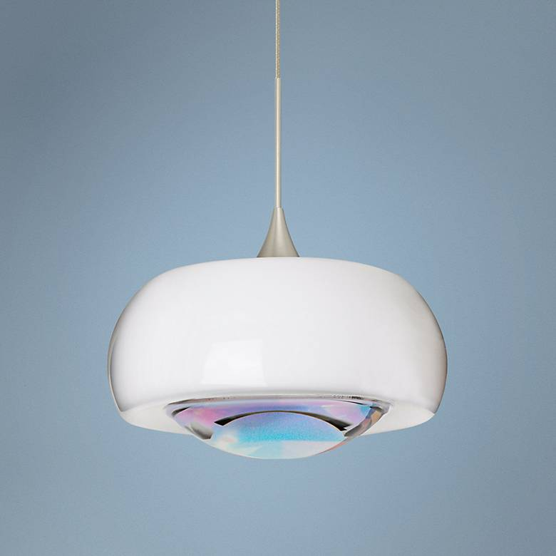 "Besa Focus Collection 6 1/2"" Wide Cool Dicro Mini Pendant"