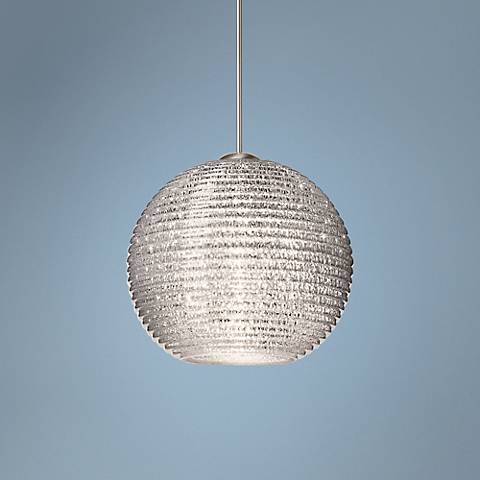 "Besa Kristall 6"" Wide Glitter Globe Mini Pendant Light"