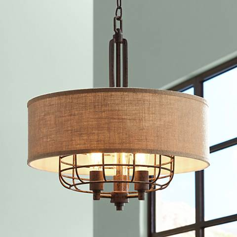 "Tremont 20"" Wide Rust LED Pendant Lt by Franklin Iron Works"