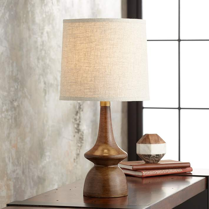 Rexford Mid Century Modern Walnut Table Lamp