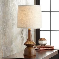 Rexford Mid-Century Modern Walnut Table Lamp